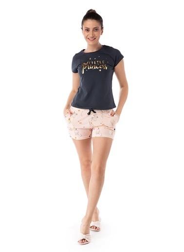 Pamuk & Pamuk Little Princess Kadın Şortlu Pijama Takım Renkli
